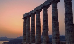 Cape Sounion at dusk